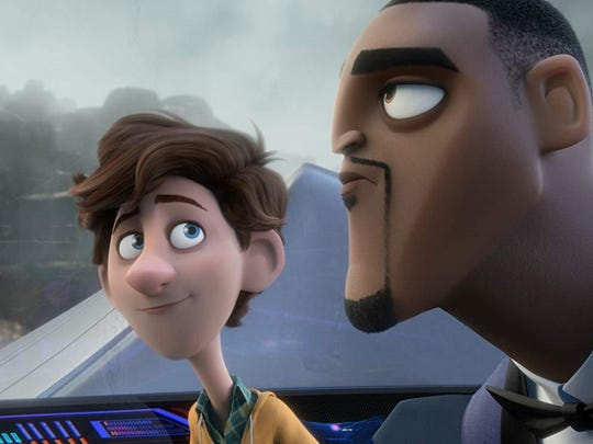 "Walter (voiced by Tom Holland), left, and Lance (Will Smith) in ""Spies in Disguise."""