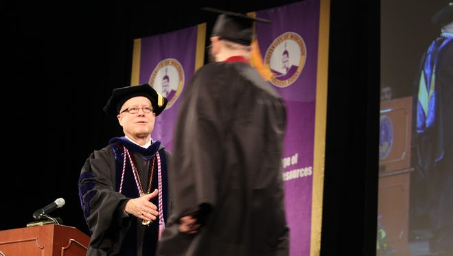 Students earning associate's, bachelor's and master's degrees from the University of Wisconsin-Stevens Point celebrated graduation at the winter commencement ceremony.
