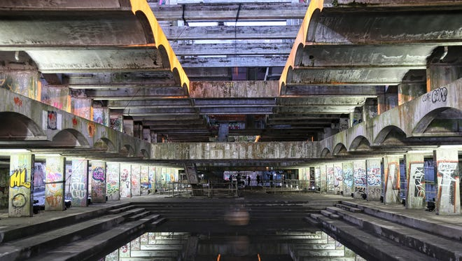 The interior of the former St Peter's seminary, in Cardross, Scotland.