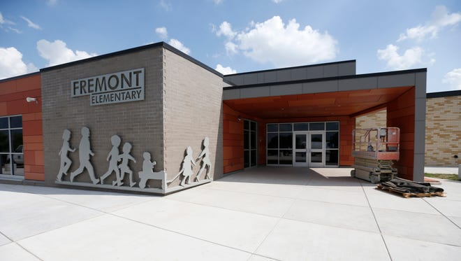 The entrance to the newly renovated Fremont Elementary School.