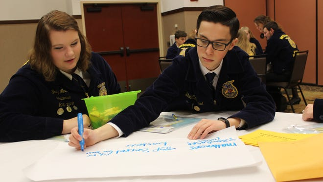 Activities held during the 2018 FFA Half-Time Conference allowed FFA chapter leaders to develop their leadership skills, learn more about FFA activities and meet people while having fun.
