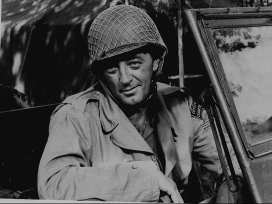 """Robert Mitchum is shown in his role in """"Anzio"""" in this"""
