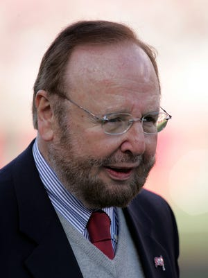 Malcolm Glazer, the owner of the Tampa Bay Buccaneers, in 2006 in Tampa, Florida.