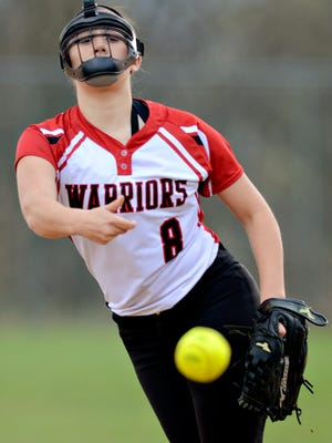 Susquehannock's Maddie Staub has been the Warriors' ace all season and will now look to hold the Delone Catholic offense in check in Monday's Y-A League semifinal showdown.