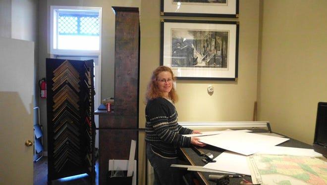 Helen Stewart, gallery director at Rare Prints Gallery in Franklin.