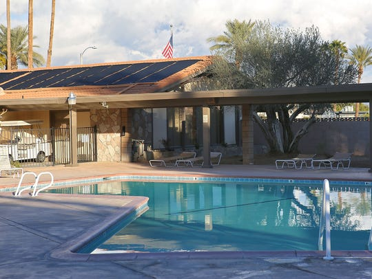 At Palm Desert Country Club, rooftop solar collectors