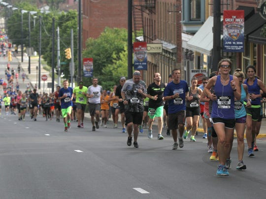 Participants of the Shawshank Hustle ran seven kilometers around town on Saturday morning. The race began and ended at the Ohio State Reformatory and had runners pass many of the sights featured in the movie.