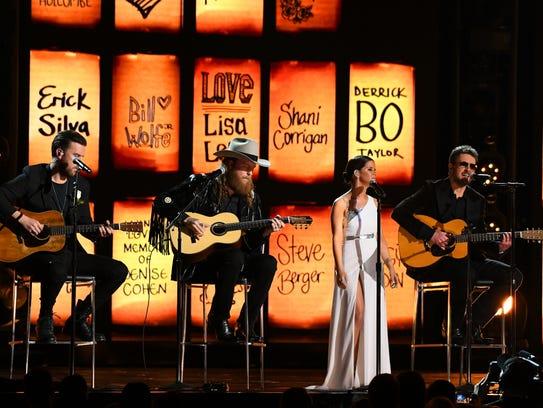 Brothers Osborne, Maren Morris and Eric Church perform