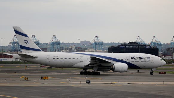 This file photo from July 24, 2014, shows an El Al