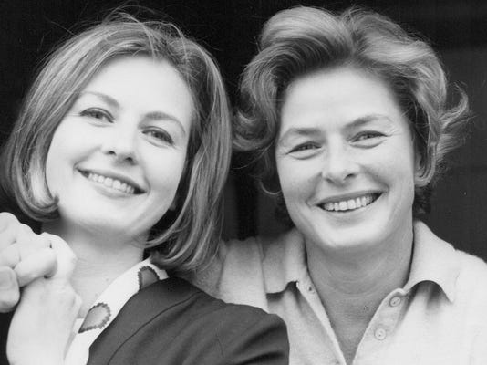 1. Pia Lindström (L) and Ingrid Bergman, around 1963. (Photo provided by P
