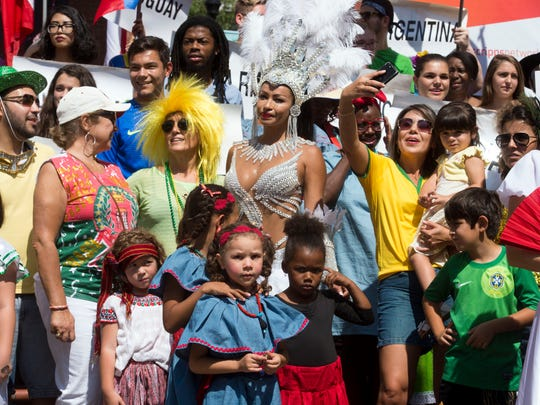 Various Hispanic, Latin American, and Caribbean cultural representatives gathered together for the HoLa Festival on Sunday, September 17, 2017.