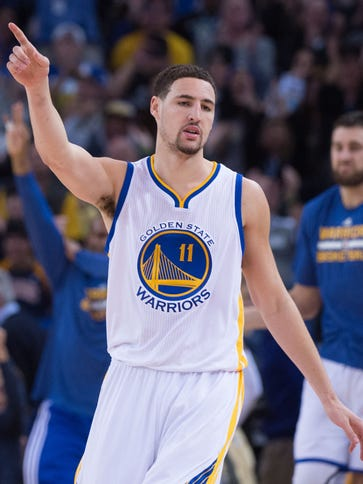 Golden State Warriors guard Klay Thompson (11) should