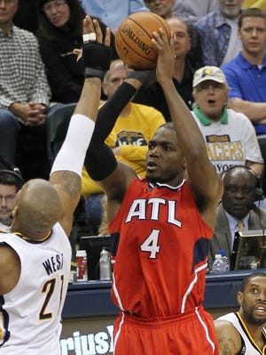 Paul Millsap (4) had 18 points and eight rebounds for the Hawks.