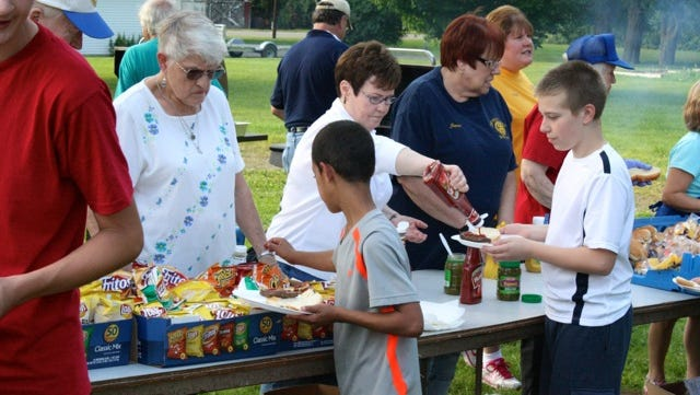 Members of the Bath and Hammondsport Rotary clubs recently co-sponsored a picnic for those who attended Camp Star in Painted Post.