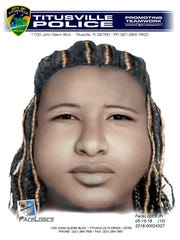 Titusville Police Department released a composite sketch of the unidentified teenage girl who witnesses spotted being abducted on Barna Avenue Tuesday, May 15, 2018.