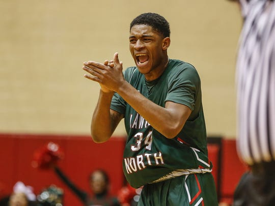 Lawrence North forward Kevin Easley Jr.