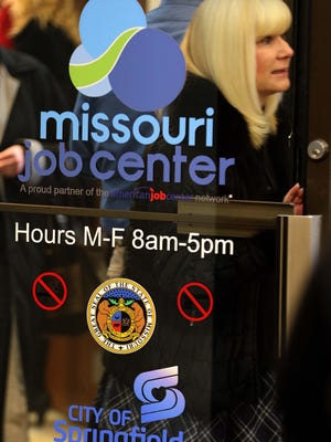 Missouri Work Assistance program supervision Cindy Koennecker is seen here exiting the new Missouri Job Center inside the Cox North building in Springfield on Dec. 12, 2016.