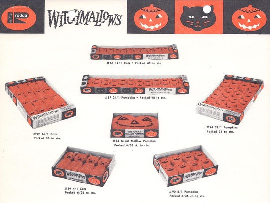 A 1977 ad for Halloween marshmallow candy.