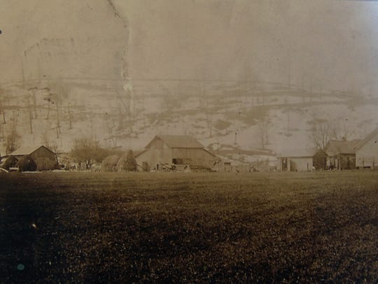An old photo of the farm that the Schumakers estimate