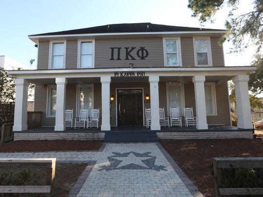 Pi Kappa Phi fraternity house on College Avenue near