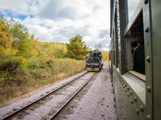 Visitors to the Mid-Continent Railway Museum can enjoy a 7-mile train ride through the Baraboo Hills.