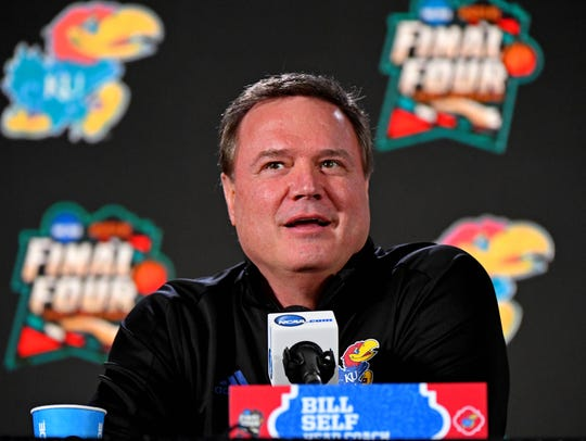 Kansas Jayhawks head coach Bill Self at the Final Four.