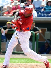 Ryan Howard is moving around better than he has since returning from tearing his left achilles tendon in October 2011.