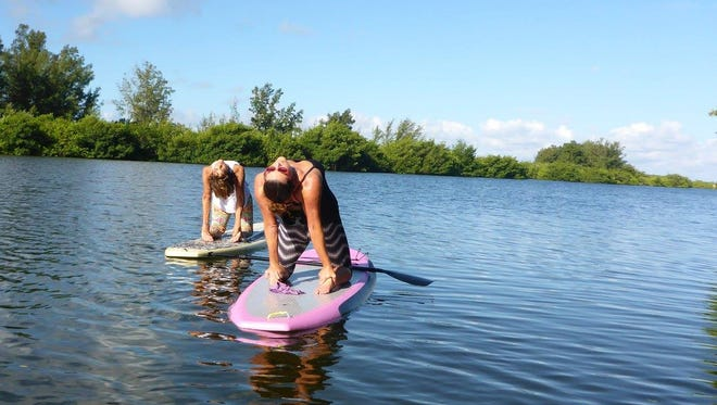 SUP yoga is just one of the active events on tap for this weekend.