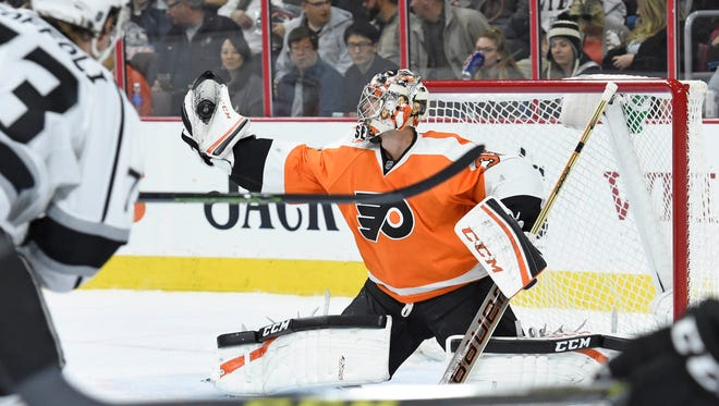 Tuesday against the Los Angeles Kings, Steve Mason finally got his save percentage back up to above .900.