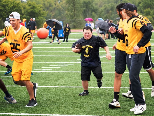 A special needs player finds an opening and heads for