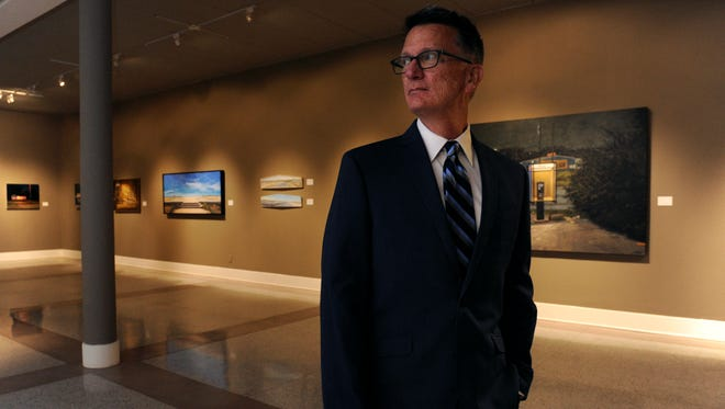 Bob Nutt in the main gallery of The Grace Museum Aug. 1, 2017. Nutt is a longtime Abilene arts patron and has served more than once on the museum's board.