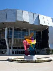 The exterior of the new Golden 1 Center in Sacramento,
