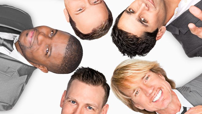 """Rockapella will put a new spin on decades of favorites with """"Hits Like You've Never Heard"""" at the Renaissance Theatre April 23."""