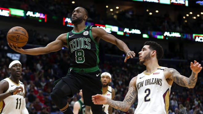 Celtics coach Brad Stevens is hoping guard Kemba Walker, shown here in a game earlier this season, and his teammates will be in prime form in the middle of August when the NBA season resumes.