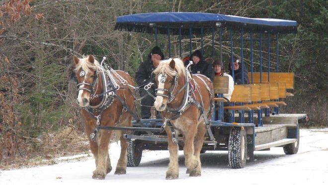 Horse-drawn trolley rides are one of the attractions at the Warren County Winterfest.