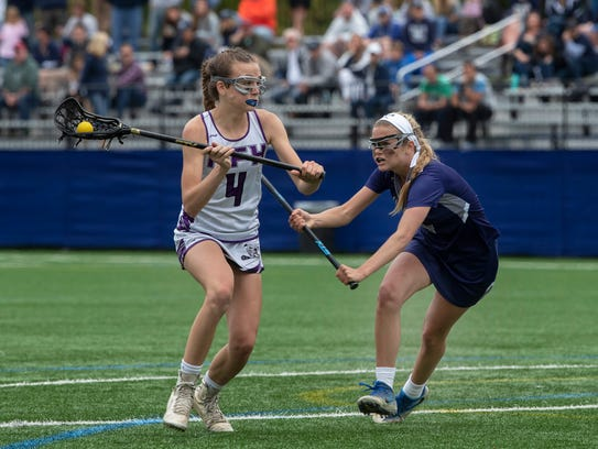 Rumson's Chalse Boyle looks for and opening to shoot.