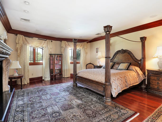 The spacious master bedroom.