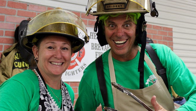 Firefighters Christy Fleming and Michael Cogswell will defend their championship title at this year's Brevard Cooking from the Heart, a benefit for Big Brothers/Big Sisters.