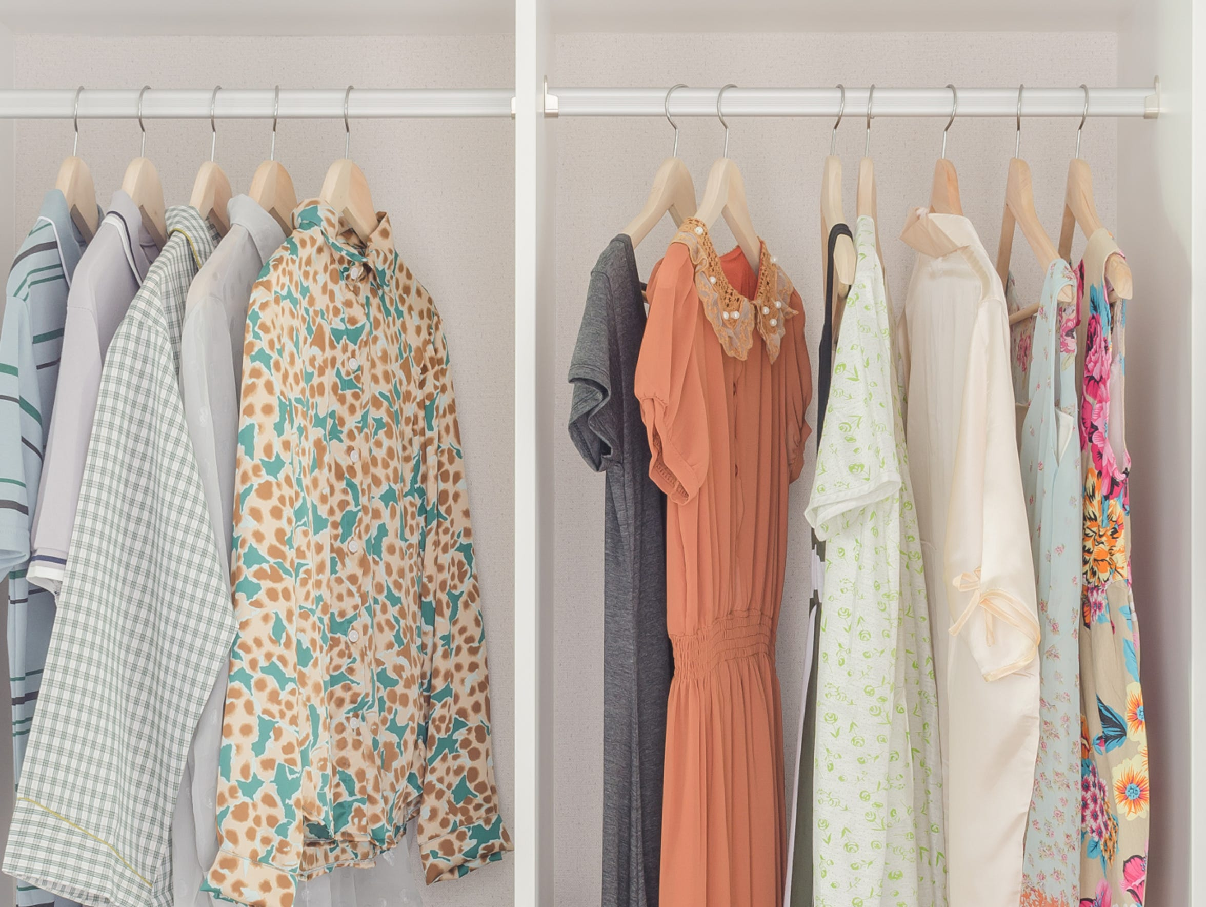 Keep your closet organized to make getting dressed