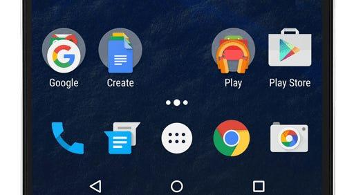A screenshot of the Nexus 6P smartphone running Android 6.0.
