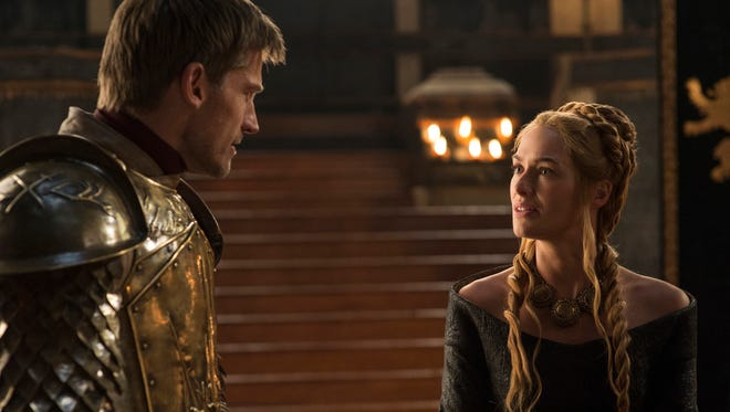 The secret is out for siblings — and lovers — Jaime (Nikolaj Coster-Waldau) and Cersei Lannister (Lena Headey).