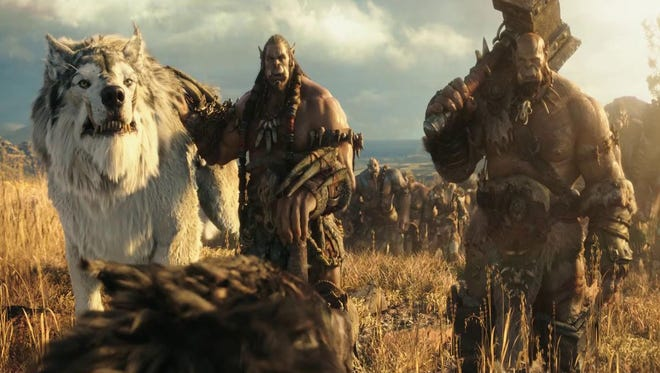 Toby Kebbell and Robert Kazinsky play Durotan and Orgrim in Warcraft.