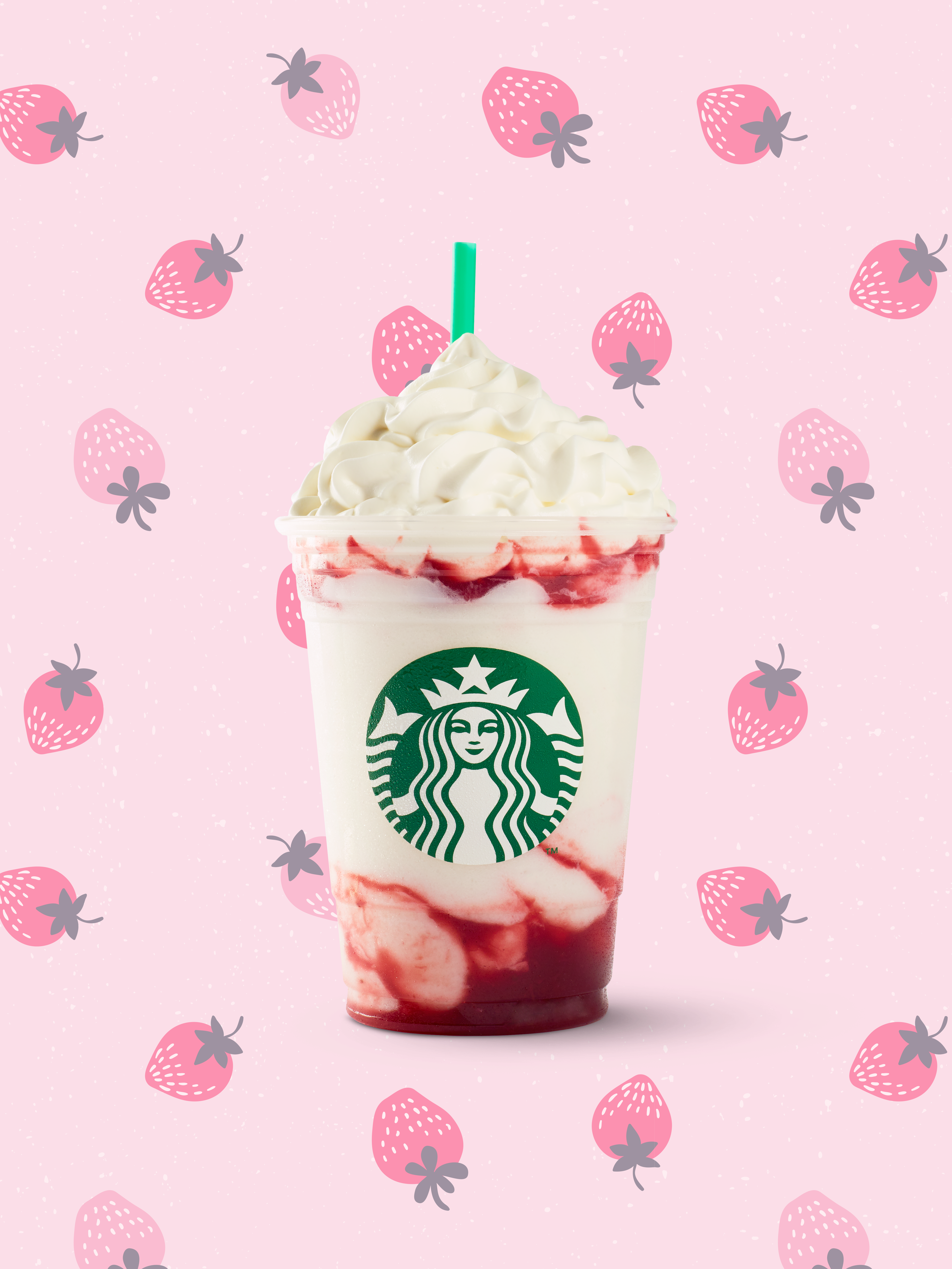 Serious Strawberry Frappuccino