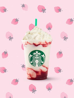 The Starbucks Serious Strawberry Frappuccino debuts on Tuesday in the U.S. and Canada.