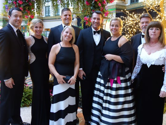 Gala event We bumped into this good looking group at the recent Cornette Ball held at the venerable West Baden Hotel. From left are David and Samantha Bucur, Jim and Amy Back, newly elected County Commissioner Ben and Shannon Shoulders and Pat and Z Tuley.