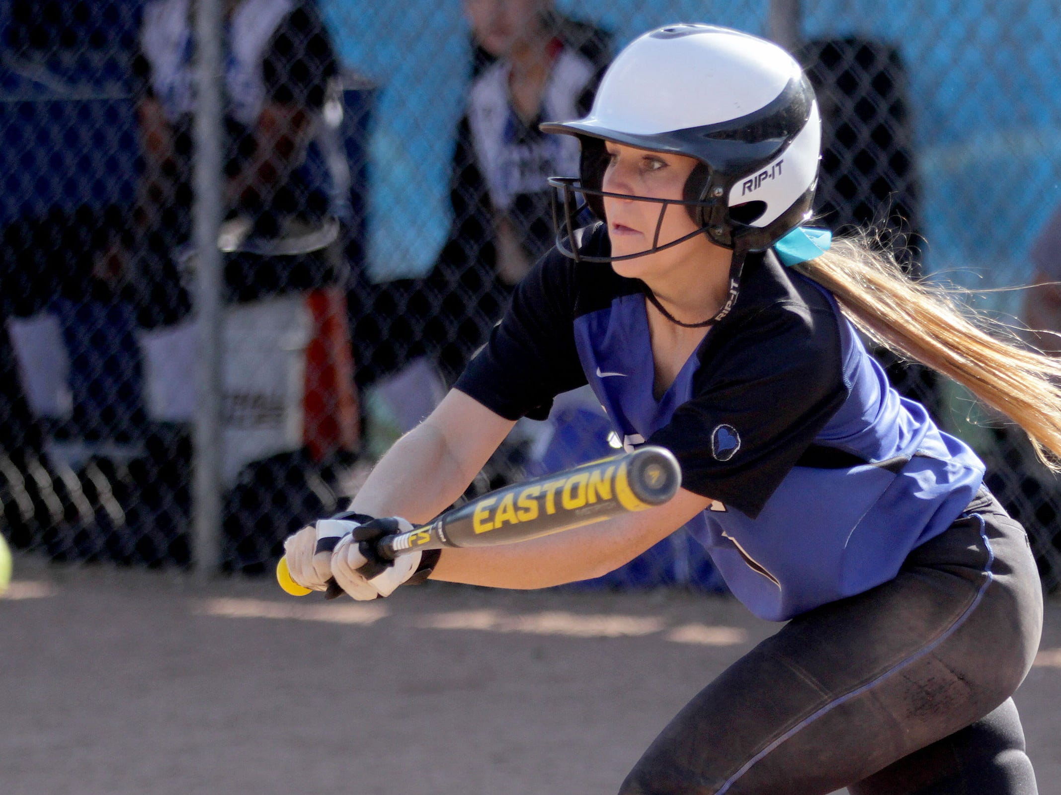 Gresham's Maddy Lindhorst (1) in the Gresham vs. McNary softball game, in the first round of the OSAA class 6A state playoffs, at McNary High School in Keizer on Monday, May 25, 2015. McNary won the game 11-7.