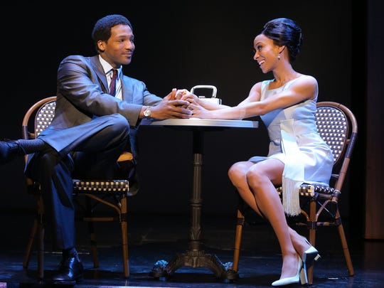 "Clifton Oliver as Berry Gordy Jr. and Allison Semmes as Diana Ross in the touring production of ""Motown: The Musical."""