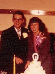 Juanita and Glenn Dobey married Feb. 1, 1953.