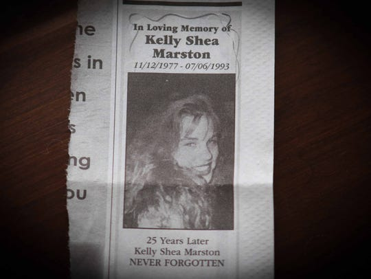 Jane and Ed Marston placed a memorial in The News Journal on July 6 for their daughter Kelly, who was killed in a crossover car accident on Delaware Route 1 25 years ago to the day that a crash killed a father and his four daughters on Route 1.