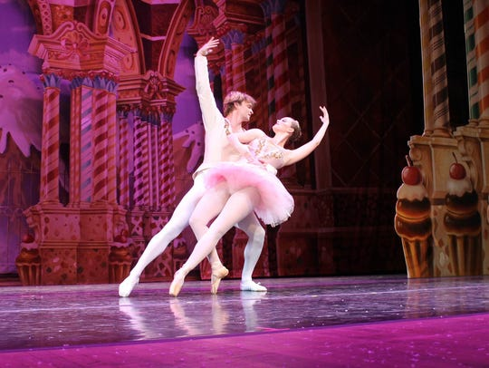 Ashlen Loskot dances as the Sugar Plum Fairy with David